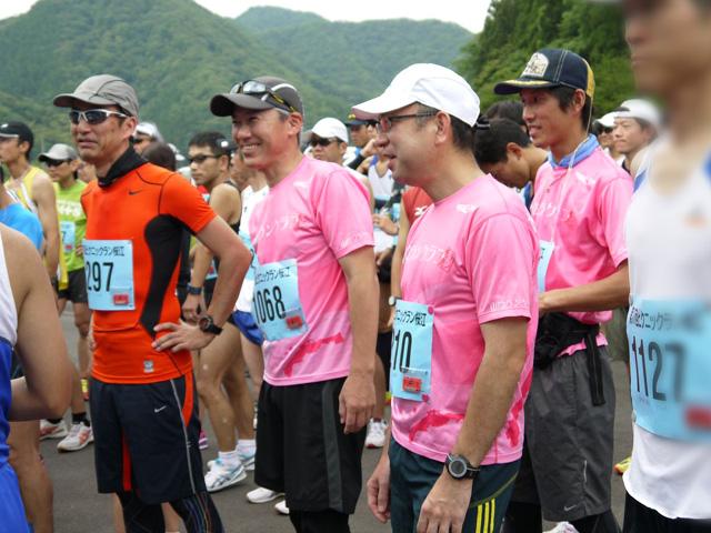 第17回 ピクニックラン桜江 21km組スタート直前
