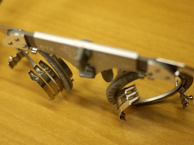 ハイカーブ用度付きサングラスの検査枠