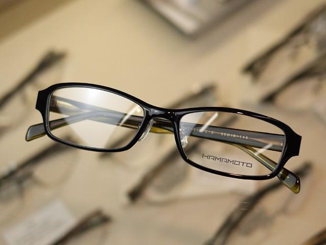 世界最軽量の鯖江産眼鏡HAMAMOTO浜本テクニカル黒ぶち