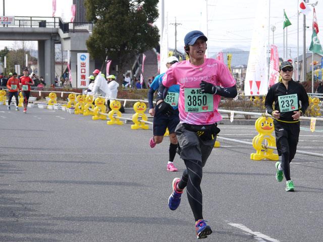 2014そうじゃ吉備路マ、山陰ランクラブ、フルマラソンゴール、アホ犬