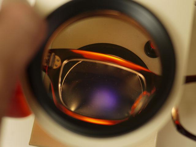 アセテート・フレーム、レンズ歪みチェック2