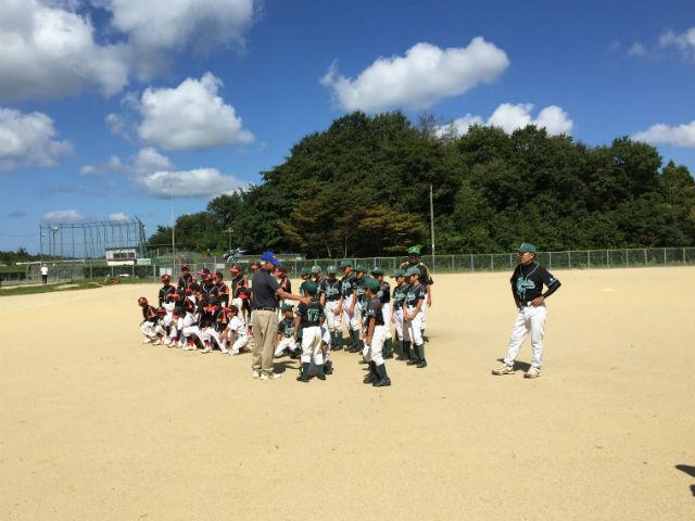 松江市玉湯球場にて城東グリーンソックス練習試合・学童野球