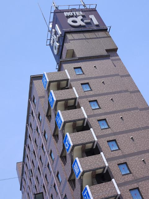 福井県鯖江市、駅前のホテルα1