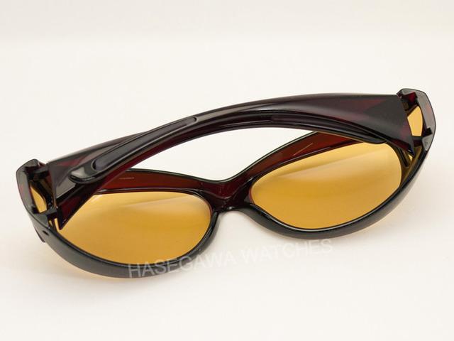 オーバーグラス遮光眼鏡レンズ東海光学ビューナル眼鏡着用時も可能