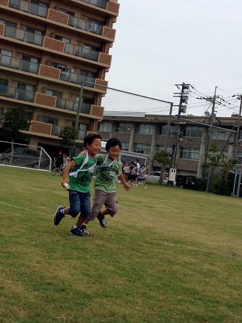 松江市城東地区運動会-二人三脚リレー