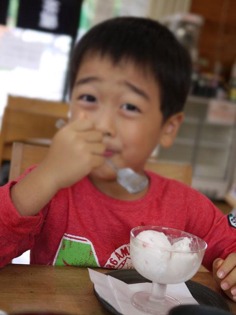三瓶の蕎麦屋「うぐいす茶屋」手作りアイスクリーム