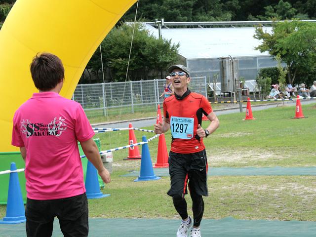 第17回 ピクニックラン桜江 増本さんゴール!