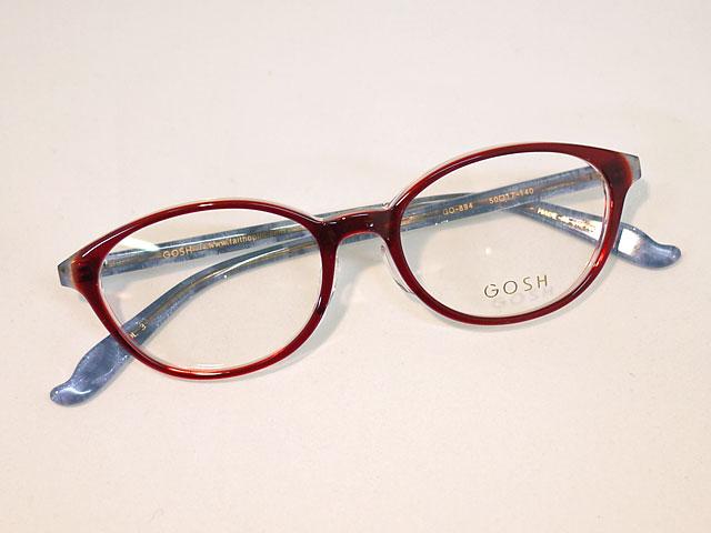 ゴッシュGOSH透明感な赤、合わせやすいプラスチック丸眼鏡