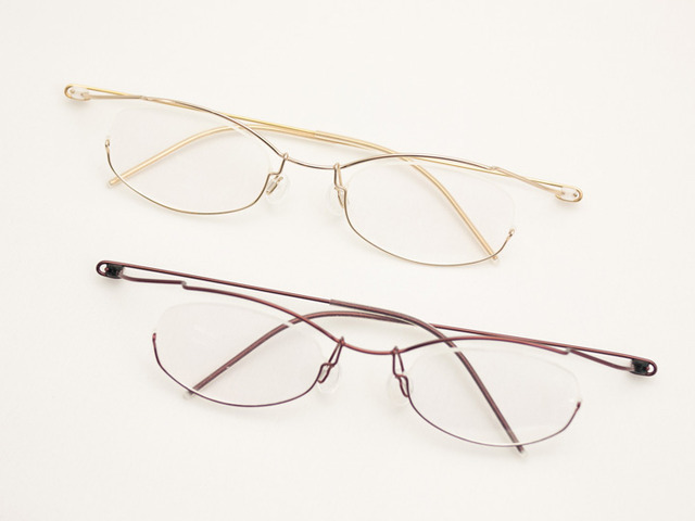 Concept「Y」Y-05W元にサイズ変更、鼻パッド長さも変更した軽量眼鏡