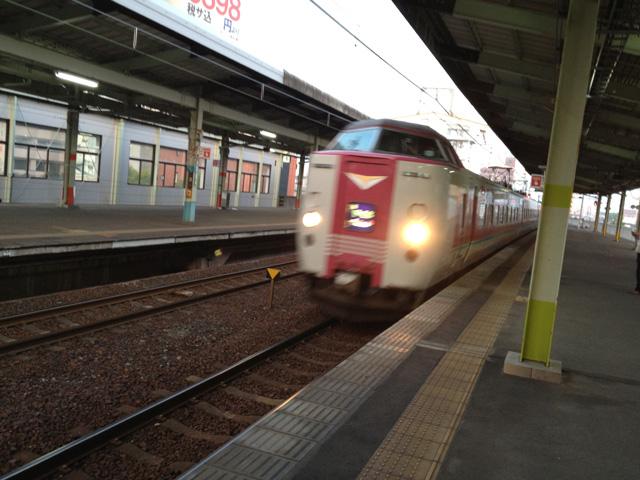 JR特急やくも2号・松江-岡山行き