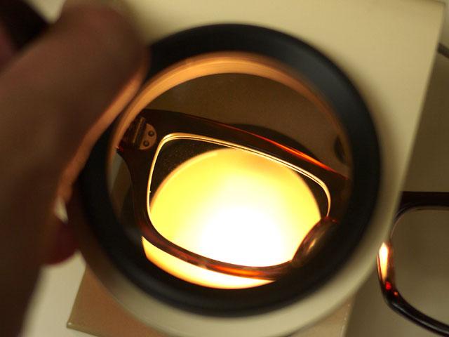 アセテート・フレーム、レンズ歪みチェック1