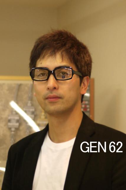 眼鏡フレーム「元(げん)」62 メガネGEN着用写真