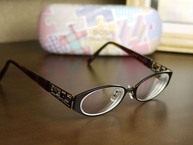 GOSHゴッシュ/眼鏡 ステンドグラスのような飾り、加工完了