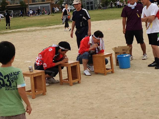 松江市城東地区運動会-お祭りリレー、ビール