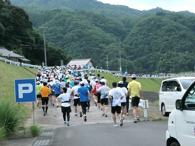 第17回 ピクニックラン桜江21km部門スタート風景