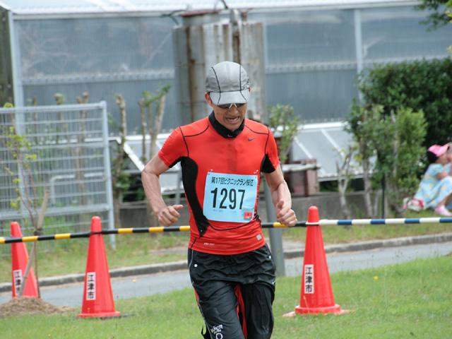 第17回 ピクニックラン桜江 増本さんゴール寸前