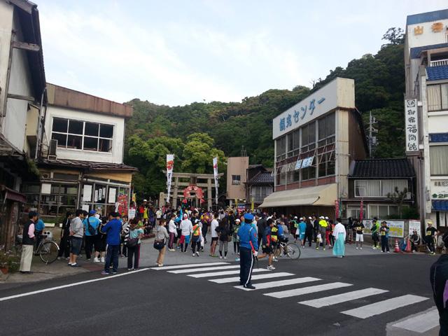 2013えびすだいこく100kmマラソン・スタート美保神社