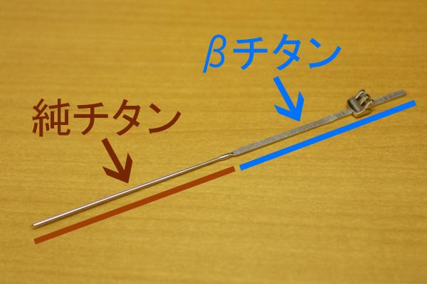 βチタン+純チタン(ジョイント芯)/ターニングのテンプル