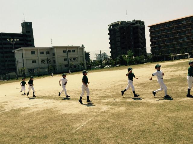 松江市少年野球(小学生)城東グリーンソックス夏の練習