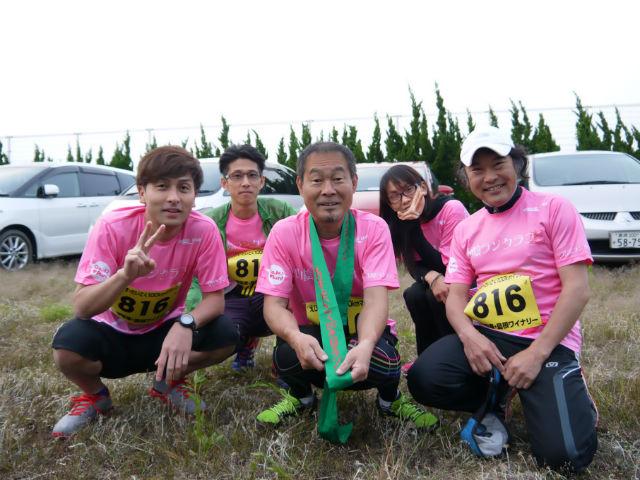 えびすだいこくマラソン2014山陰ランクラブCチーム、大会前写真
