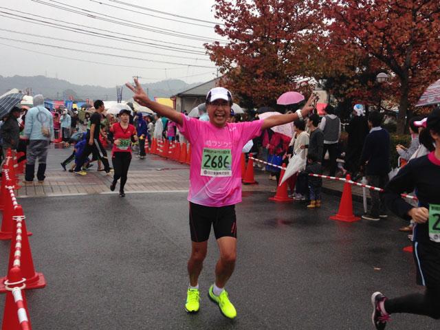 なかうみマラソン・宮崎さんゴール