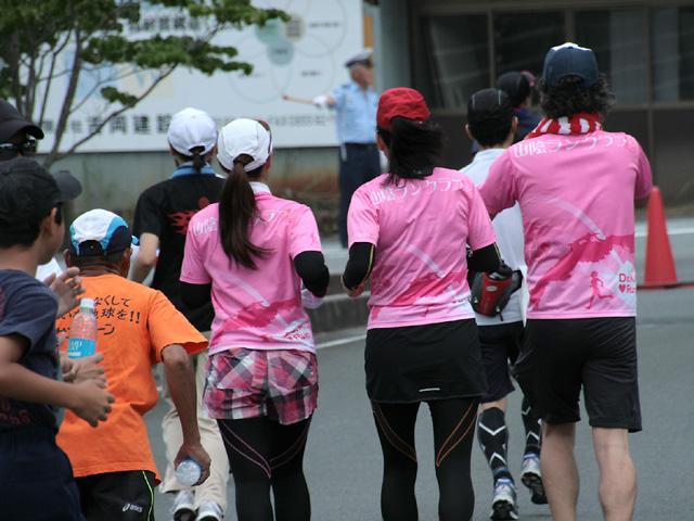 第17回 ピクニックラン桜江 山陰ランクラブ10km組コースへ