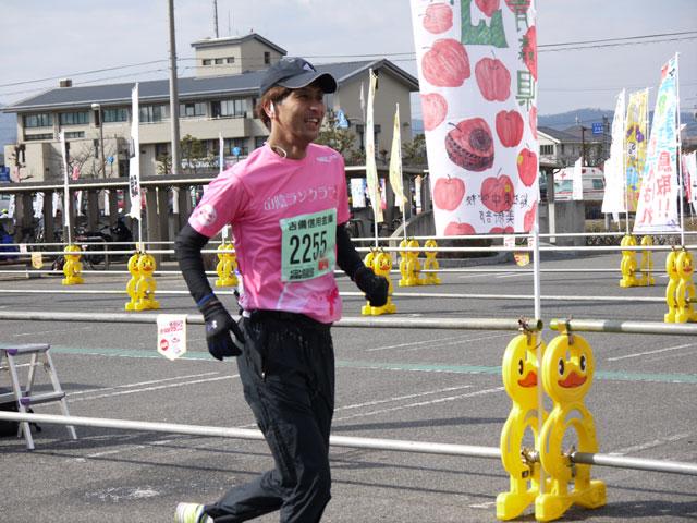 2014そうじゃ吉備路、山陰ランクラブ、フルマラソンゴール長谷川純一