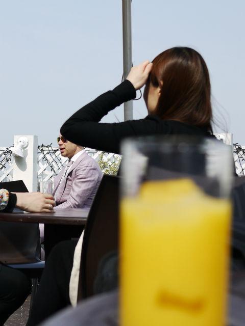 オレンジジュースで一息&ic!berlinアイシーベルリン社長ラルフ発見