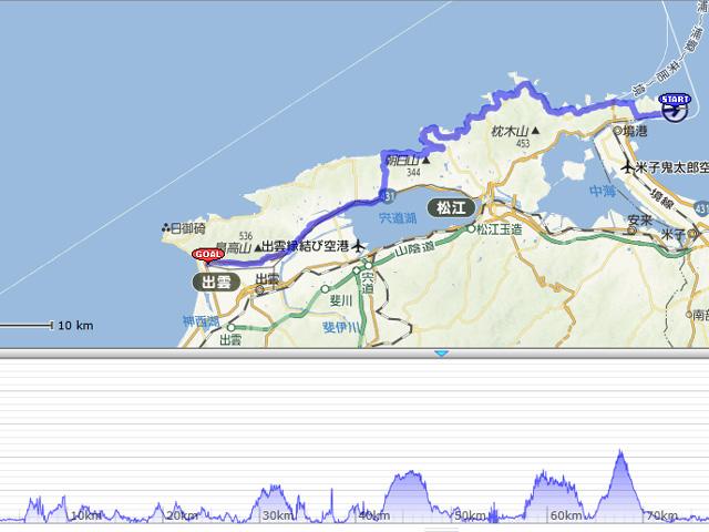 2013えびすだいこく100kmマラソン・コース