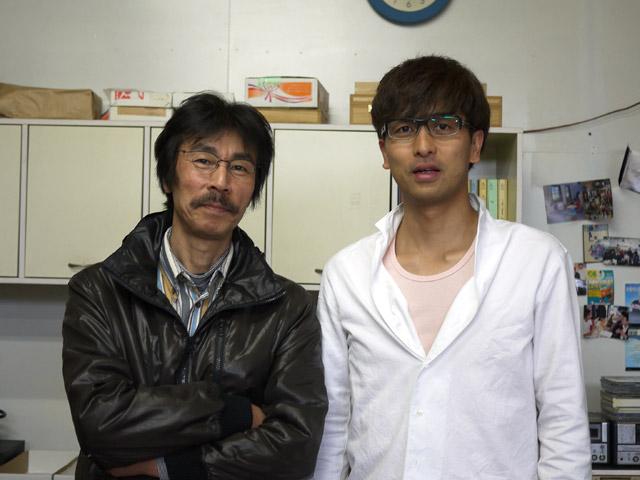 兵井伊佐男さんとのツーショット写真