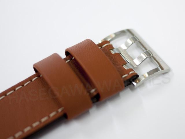 ハミルトン純正革ベルトの尾錠、2つのつく棒