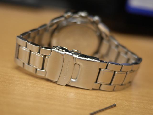 テクノス腕時計バンド洗浄後