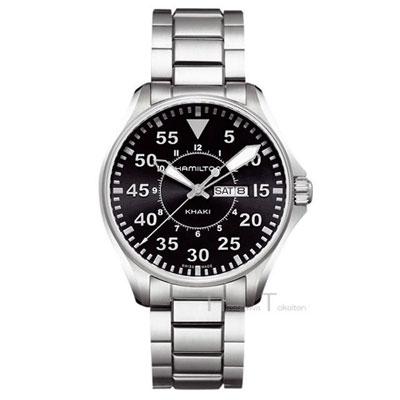 ハミルトン・カーキパイロット・42mm金属バンド腕時計H64611135