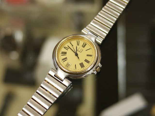 ダンヒル(dunhill)ミレニアム、クォーツのコンビ腕時計
