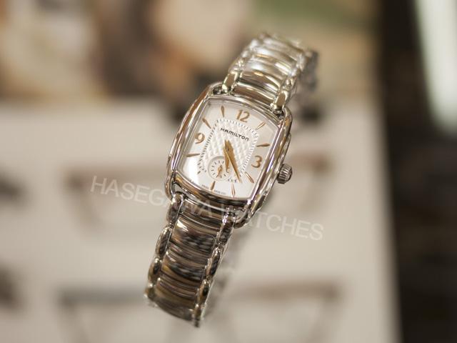 ハミルトン女性用腕時計バグリーH12351155小ぶりな上品デザイン