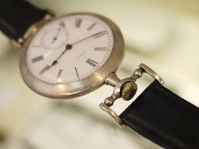 オメガ、アンティーク手巻き腕時計grand prix paris1900修理完了