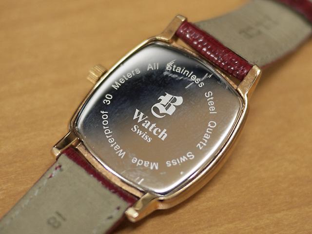 B WATCH ブランド不明な腕時計 クッション型
