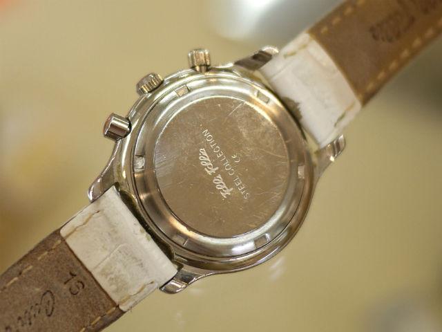 フォリフォリ・クロノグラフ腕時計プッシュボタン修理