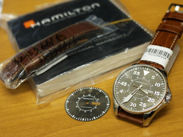 ハミルトン・カーキパイロットオート46mm 腕時計H64715885修理
