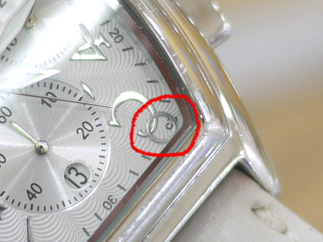 NEWMAN腕時計カレンダー枠外れ文字盤
