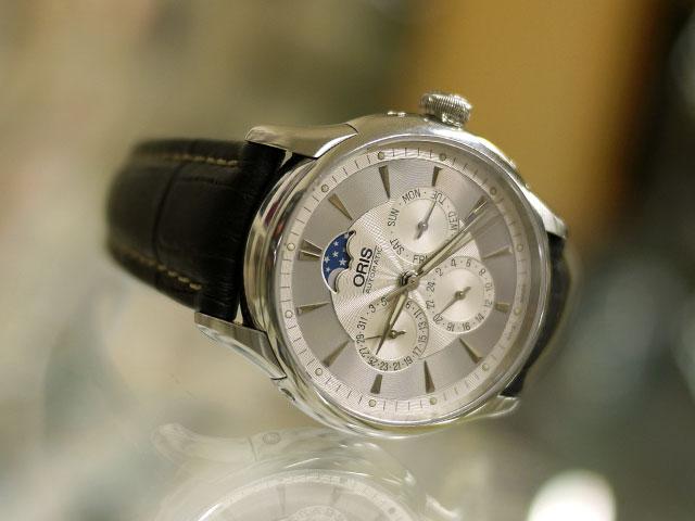 オリス・アートリ・ムーンフェイズ時計にイタリアのモレラート取付け