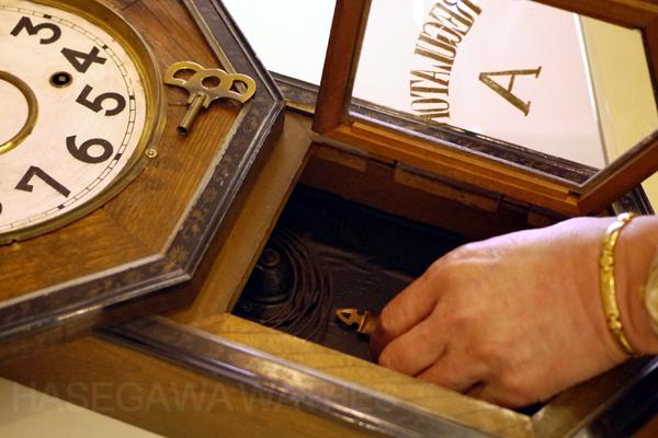 愛知時計 ゼンマイ 掛け時計 8日巻き 打ち方 柱時計