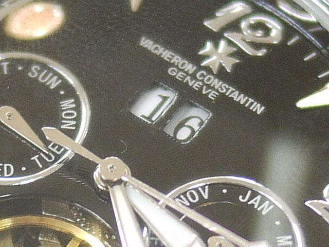 腕時計カレンダー枠外し修理完了