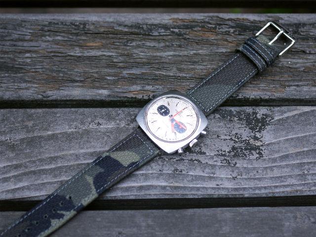 今はやりの迷彩柄イタリア腕時計用ベルト、モレラート