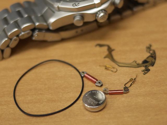 タグホイヤー・プロフェッショナル110クロノグラフ破損部品