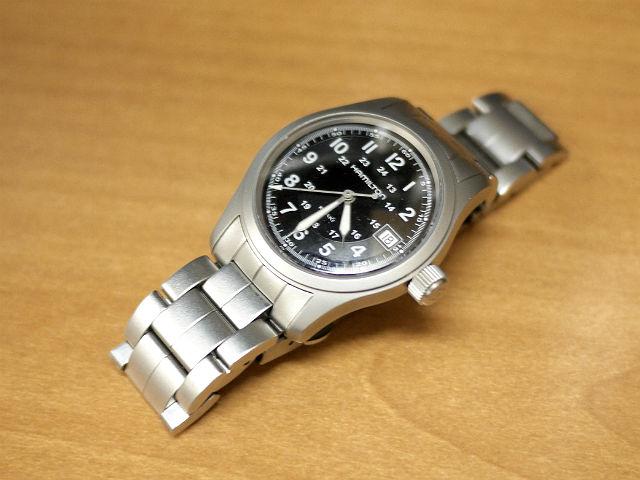 腕時計ハミルトン・カーキ・クォーツ 電池交換