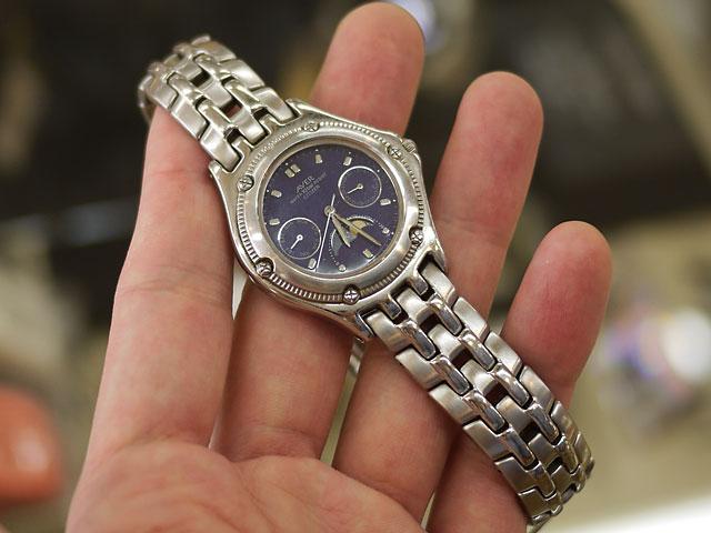 超音波洗浄したあとの、シチズン腕時計の姿