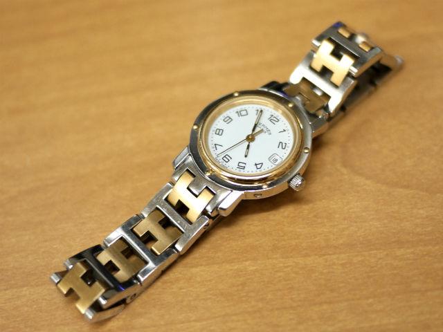 腕時計エルメス・クリッパー電池交換