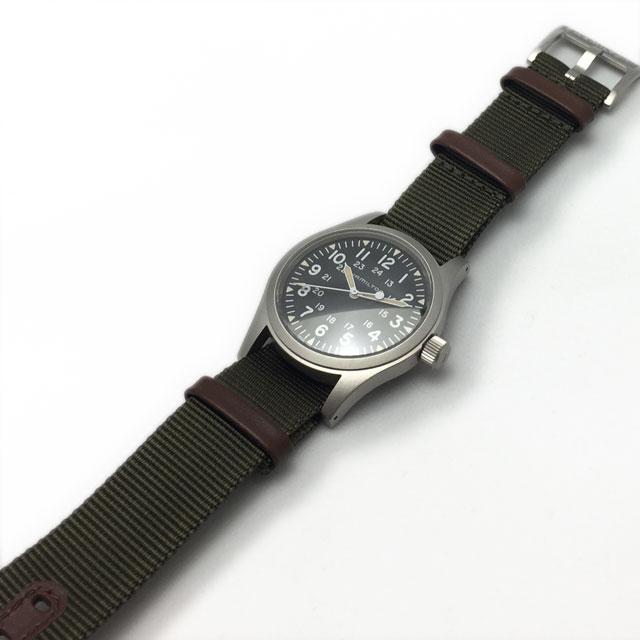 ハミルトン・カーキフィールドメカ時計本体とNatoベルト