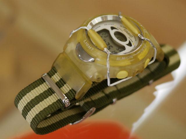 BABY-Gにストライプのナトータイプベルトをカスタマイズ